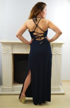 Φόρεμα Μακρύ με κορδόνια