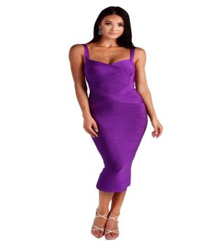 Vera Dark Purple Bandage Dress