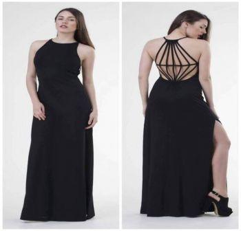 Φόρεμα Μακρύ με σχέδια στην πλάτη