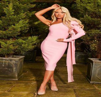 Marilena Ροζ Bandage Φόρεμα Εναν 'Ωμο