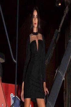 Φόρεμα Μαύρο Μακρια Μανίκια