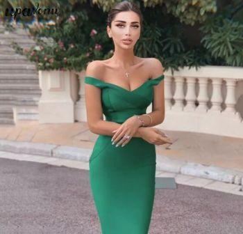 Monica Green Midi Dress