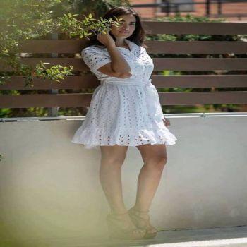 Φόρεμα Κιπούρ Λευκό