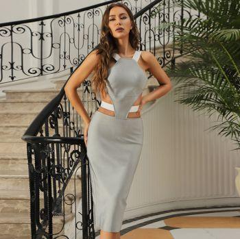 Alina Midi Backless Dress