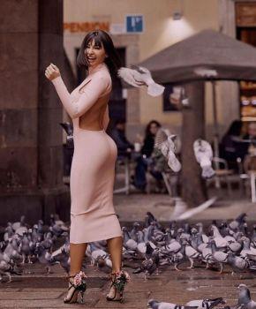 Margie Pink Midi Dress