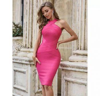 Miami Pink Midi Dress