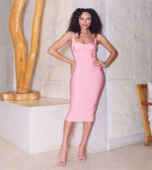 Vera Pink Bandage Dress