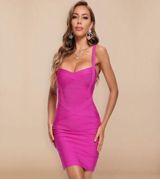 Francie Mini Fouchsia Φόρεμα