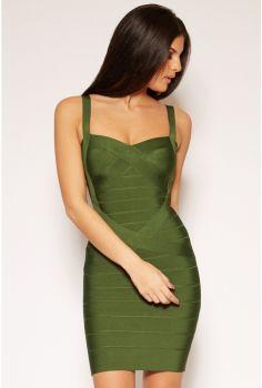 Francie Mini Olive Φόρεμα